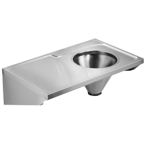Faecal drain with integrated storage surface