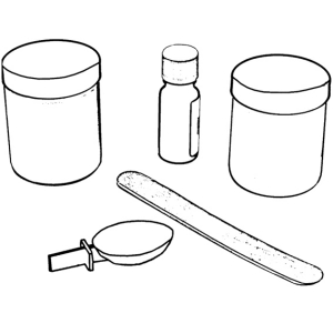 Repair set for products made from mineral granite, alpine white