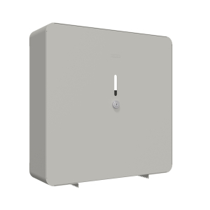 Square jumbo roll holder for wall mounting