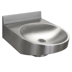 Disabled washbasin with upstand