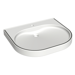 VARIUScare Single wash basin, barrier-free