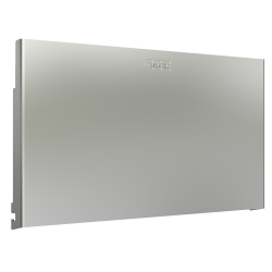 EXOS. stainless steel front for EXOS. double toilet roll holder for recessed mounting