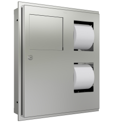 Combination Hygiene Bin/WC Roll dispenser