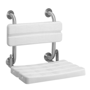 CONTINA Foldable shower seat with back support