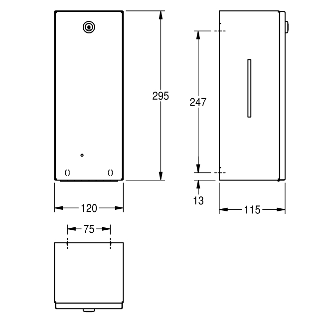 RODAN electronic disinfectant dispenser for wall mounting