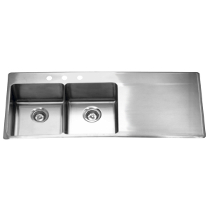 LBDDBR6408P-1 Double bowl, right drainboard