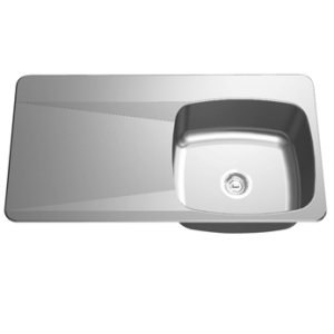 LBSDBL6810/316P-1 Double bowl, left drainboard