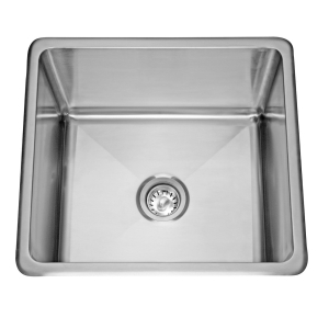 Topmount sink - Single, no ledge, 18 gauge
