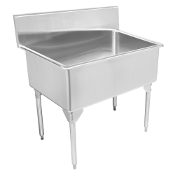 SL2448/316-5 Scullery sink, single T316