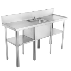 Multi-purpose sink - Sewage sampling, double drainboard