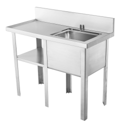 Multi-purpose sink - Sewage sampling, left drainboard