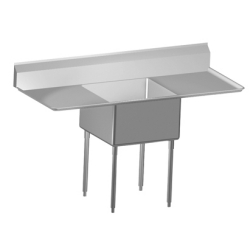 Scullery Sink World-Class Series - Single, left & right drainboard, 14 gauge