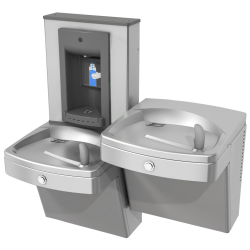 Drinking fountains - Universal chilled split level vandal-resistant combination, manual
