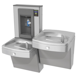 Drinking fountains - Universal chilled split level vandal-resistant combination, electronic