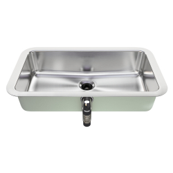 Vanity sink - Undermount, overflow, rectangular