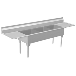 WTL2454LR-1 Triple, left & right drainboard, 14 gauge