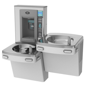 Chilled split combination fountain