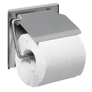 Toilet roll holder for wall mounting