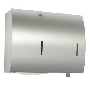 STRATOS Paper towel/soap dispenser combination for wall mounting
