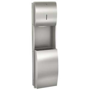 STRATOS Paper towel/waste bin combination for recessed mounting