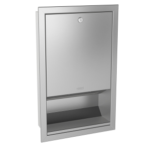 RODAN paper towel dispenser for recessed mounting