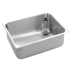 Basin to be installed from above with rear-left waste