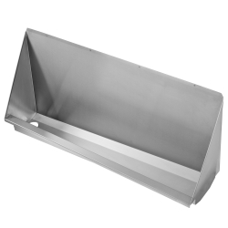 Water-free urinal trough