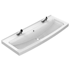Washtrough with 2 manual tap