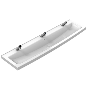 Washtrough with 3 manual taps