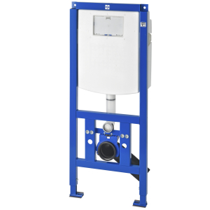 AQUAFIX installation frame for WC pan, barrier-free, with wall-installation cistern