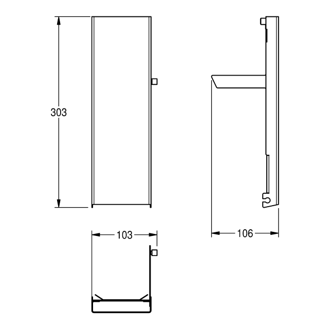 EXOS. Stainless steel front for soap dispenser for wall mounting