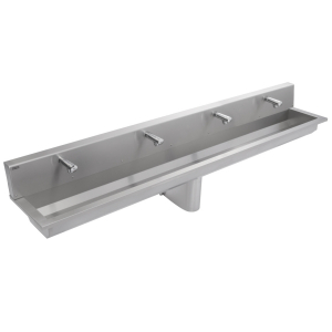 SATURN wall mounted wash trough with tap deck