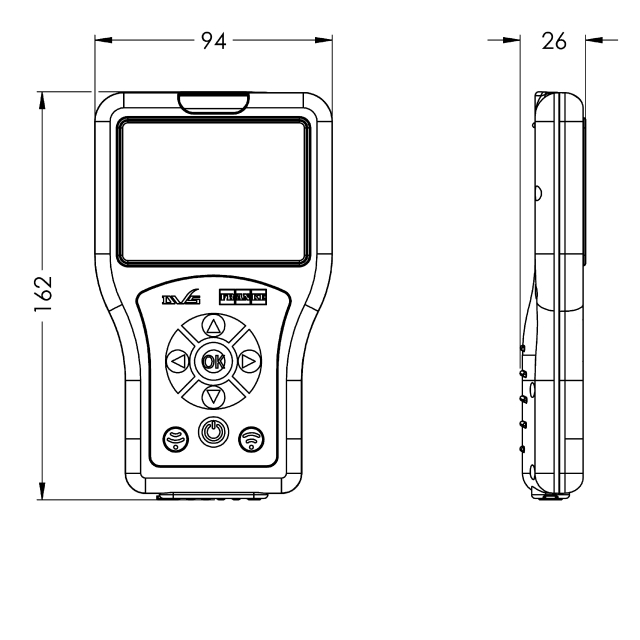 Bidirectional remote control for electronical fittings F3 and F5