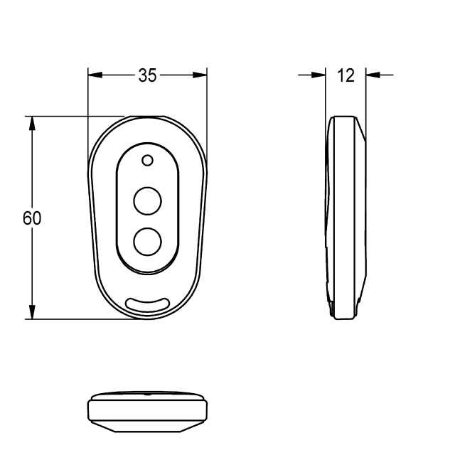 2-button remote control for fittings F3 and F5