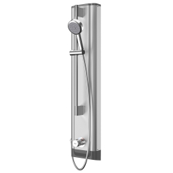 FS5 Mix stainless steel shower panel with hand shower fitting