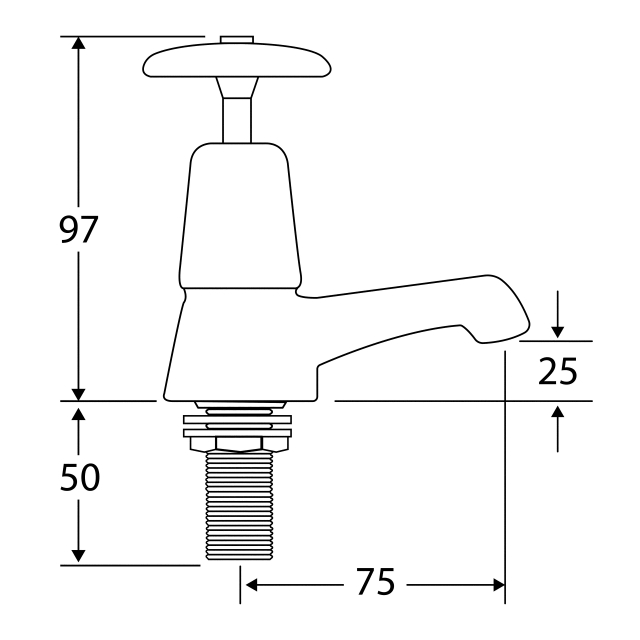 F1080N Crosshead basin taps