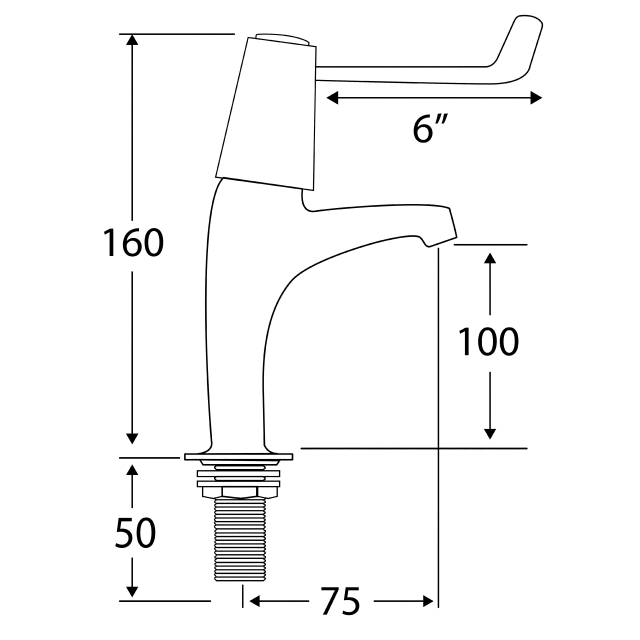 F1074N Lever operated pillar taps