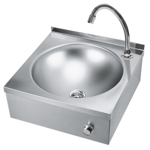 ANIMA single washbasin with knee or hip actuation