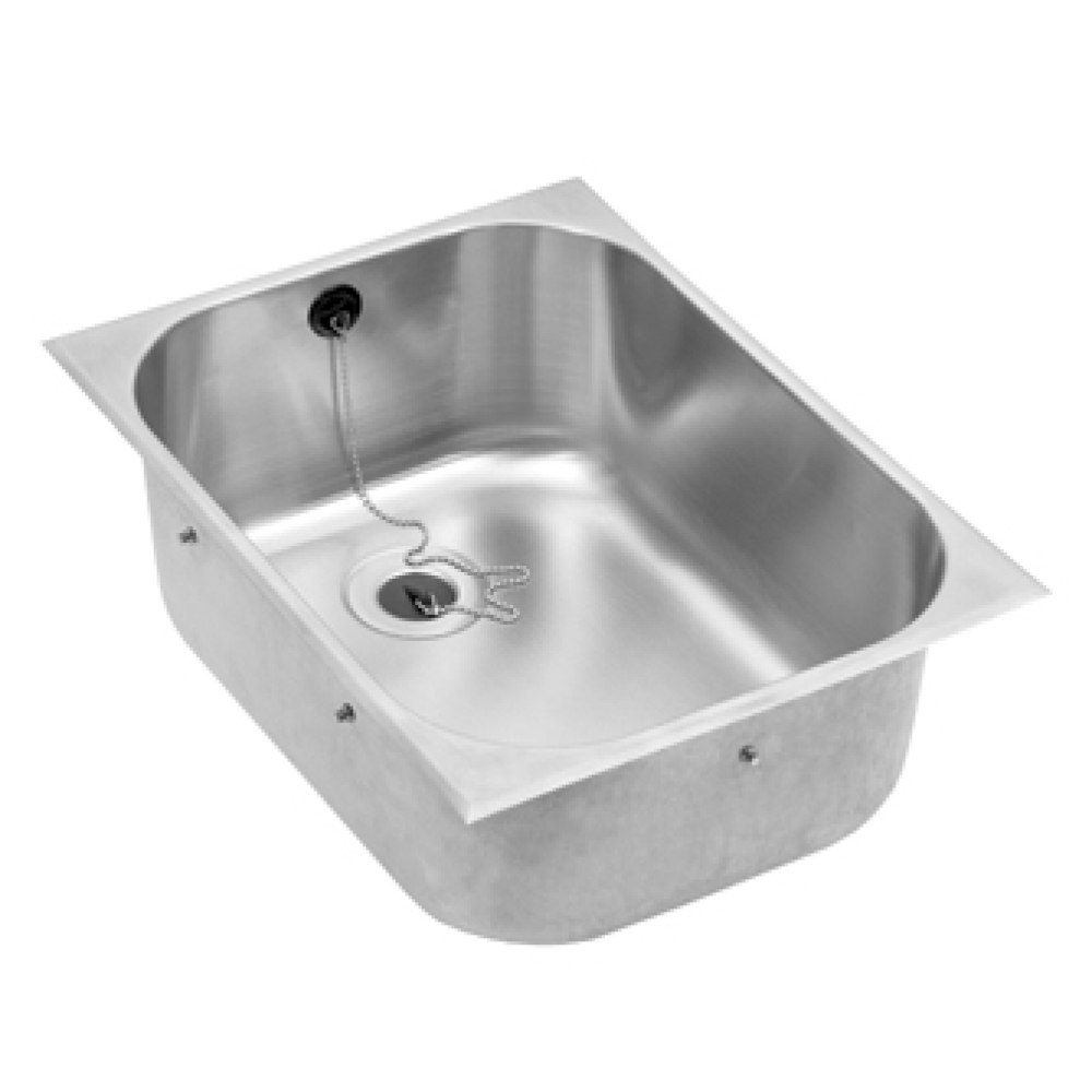 Basin to be installed from above, centre waste