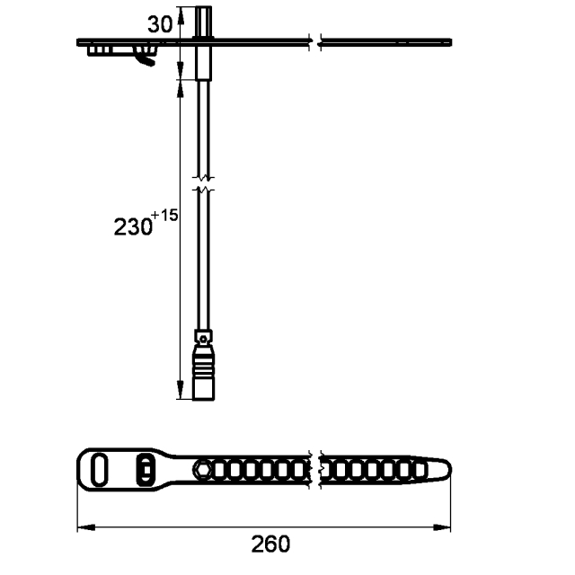 Temperature sensor insert