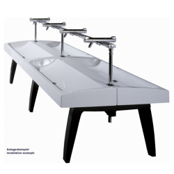 FUTURA exclusive row of washbasins, double