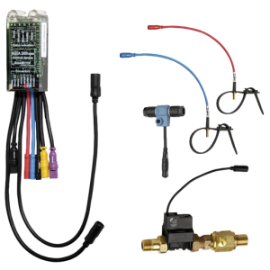 Electronic module for flushing the system