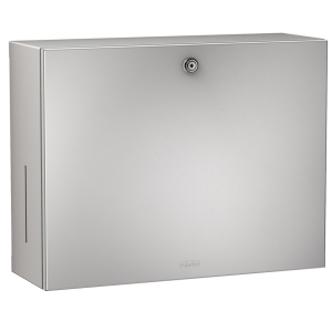 RODAN paper towel/soap dispenser combination for wall mounting