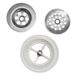 Flat perforated and plug waste