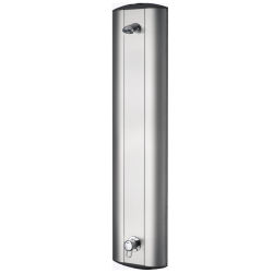 Shower panel made of stainless steel with lever mixer and shower head AQUAJET-Slimline