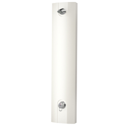 Shower panel made mineral material with lever mixer and shower head AQUAJET-Slimline