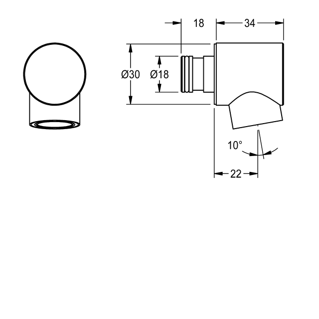 Head end with aerator