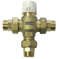 Thermostatic mixing unit
