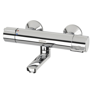 AQUALINE-Therm Self-closing wall-mounted mixer with thermostat