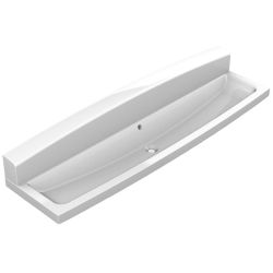 Wash trough with rear wall MIRANIT